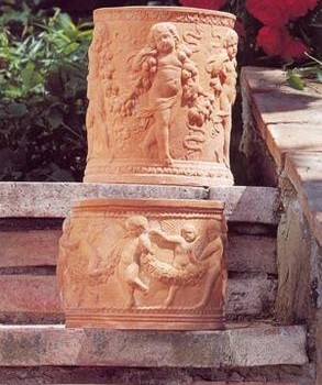 Italian Terracotta Angel Planters