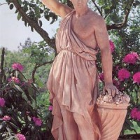 Italian Terracotta Grape Harvest Statue