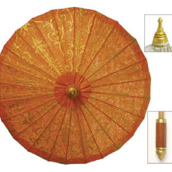 Mango Orange Gilded Parasol