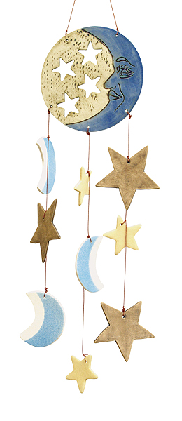 Moonlight Ceramic Wind Chimes