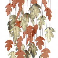 Oak Leaf Ceramic Wind Chimes