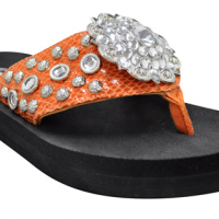 Orange Jewel Sandals