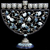 Ornate Floral Menorah