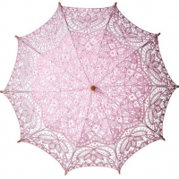 Pink Cotton Lace Parasol