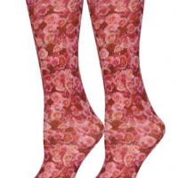 Pink Roses Trouser Socks