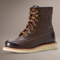 Rugged Leather Hiking Boots, leather laces