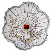 Scalloped Cherry Blossom Parasol