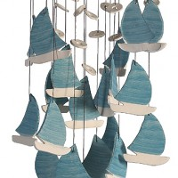 Seafarers Ceramic Sailboat Windchime