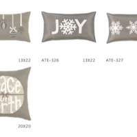 Silver Bells Holiday Pillows