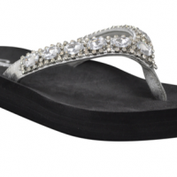 Silver Jeweled Sandals