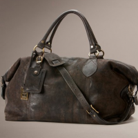 Soft Leather Overnight Bag