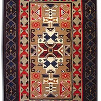 Southwestern Wool Rug, 6x9  even more detail