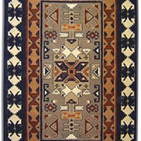 Southwestern Wool Rug, 6x9  more detail