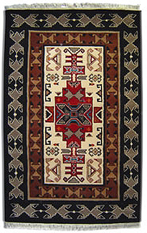 Southwestern Wool Rug, 6x9  much more detail