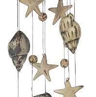 Summer Vacation Ceramic Windchime