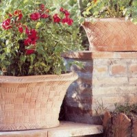 Terracotta Basketweave Planters
