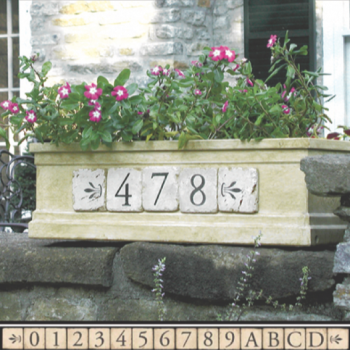 Terracotta House Number Tiles