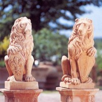 Terracotta Lion Guardians
