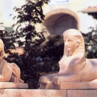 Terracotta Sphinx Guardians