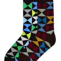 Triangle Hourglass Socks