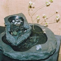 Triple Tier Charcoal Slate Fountain