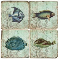 Tropical Fish Terracotta Tiles