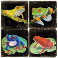 Tropical Frogs Terracotta Tiles