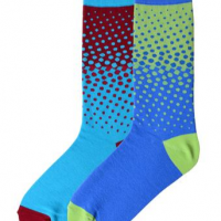 Two Tone Dot Socks