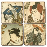 Ukiyo-e Men Terracotta Tiles