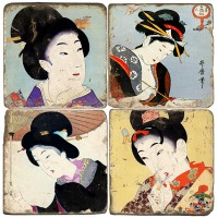 Ukiyo-e Women Terracotta Tiles
