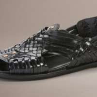 Woven Leather Men's Sandals