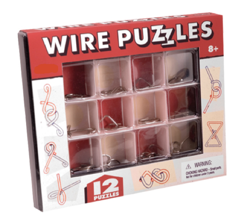 12 Set of Wire Puzzles