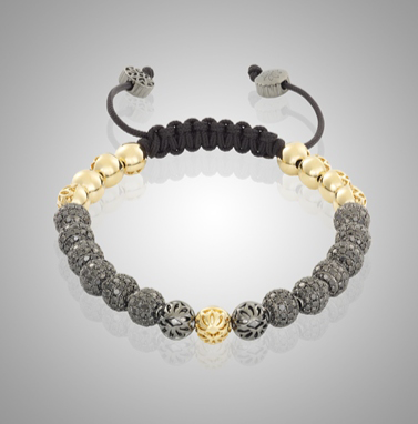 18k Gold & Black Diamond Luxe Bracelet