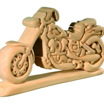 3D Wood Motorcycle Puzzle