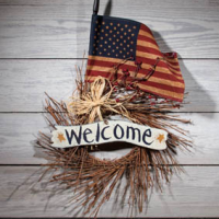 Americana Welcome Wreath