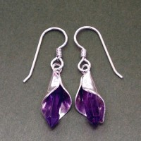 Amethyst Lily Earrings