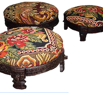 Antique Rice Grinder Bench In Vintage Floral Kilim
