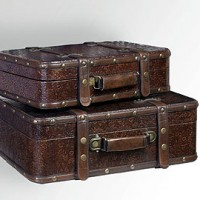 Antique Suitcase Set