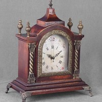 Antique Wood Mantle Clock
