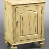 Antiqued Side Table Nightstand