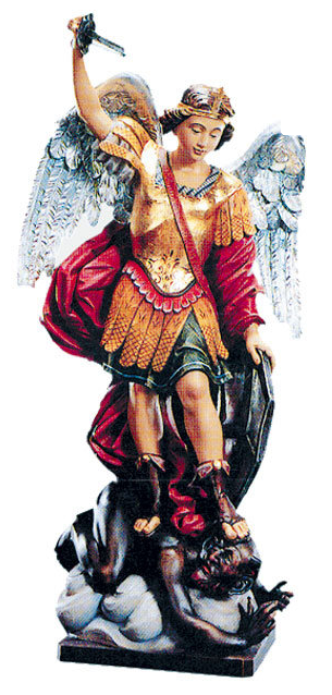 Archangel St. Michael Woodcarving
