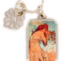 Art Nouveau Charm Necklace