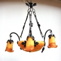 Art Nouveau Honey Vine Chandelier