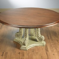 Beautiful Round Carved Dining Table