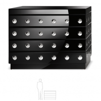 Black Lacquer Silver Sphere Chest
