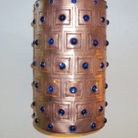 Blue Jewel Copper Pendant Light