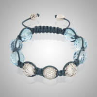 Blue Topaz White Gold Bracelet