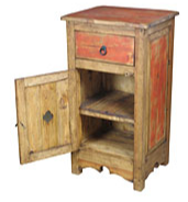 Blue or Red Painted Rustic Nightstand