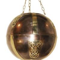 Brass & Iron Hanging Ball Lamp