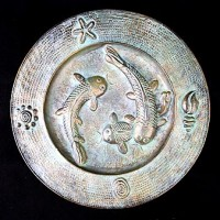 Brass Pisces Serving Plate